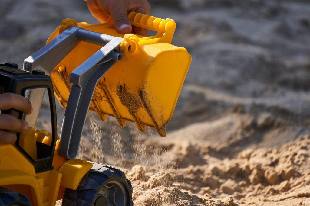 Maken van een zandbak
