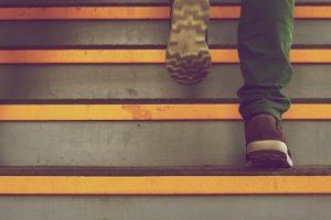 Zelf open trap dicht maken